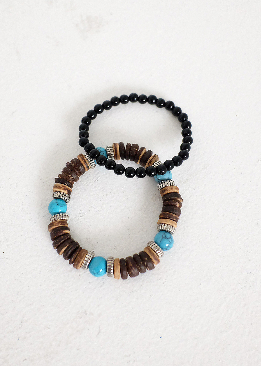 wood ball set bracelet(1 color)