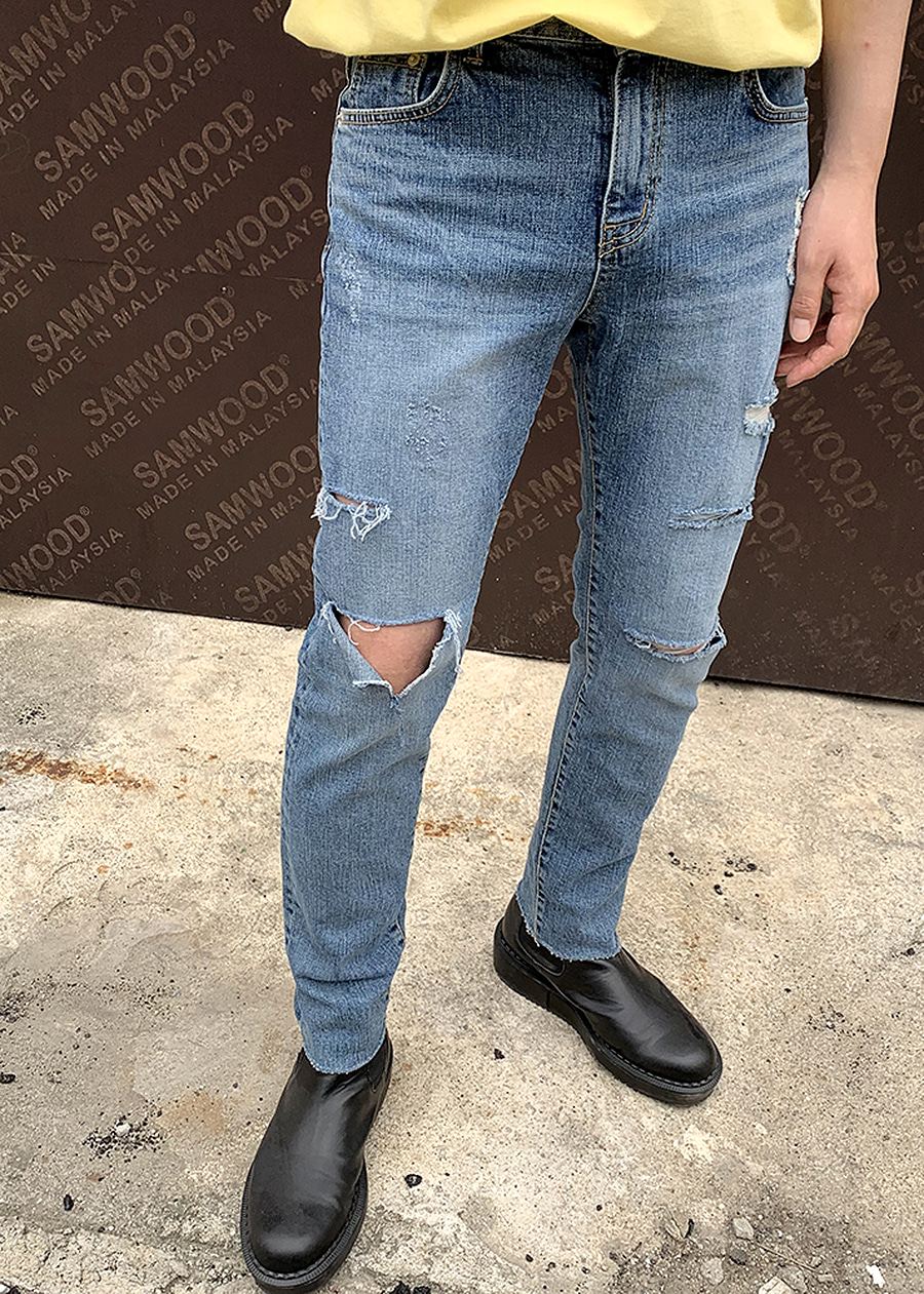 triple cutting denim jean(1 color)