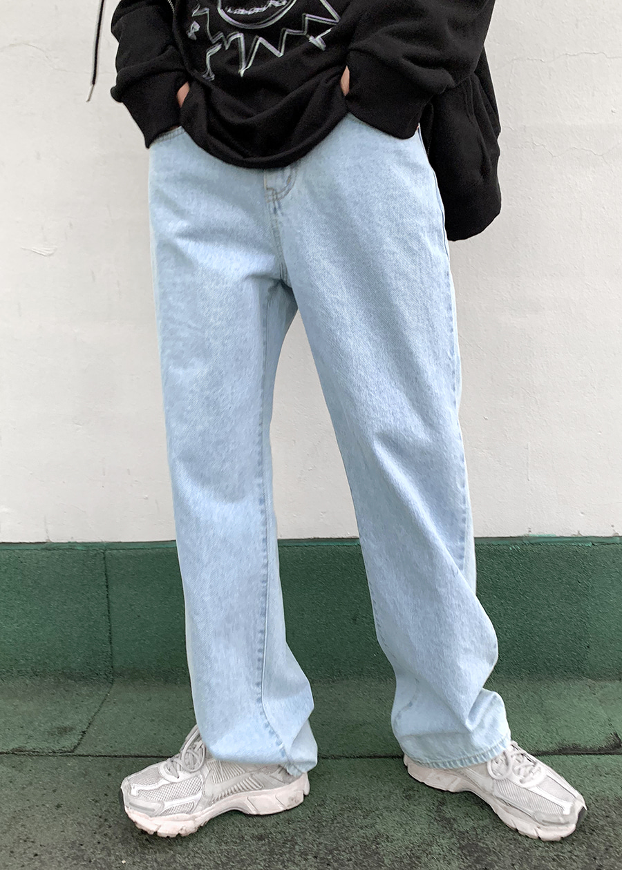 og wide denim pants(2 color)