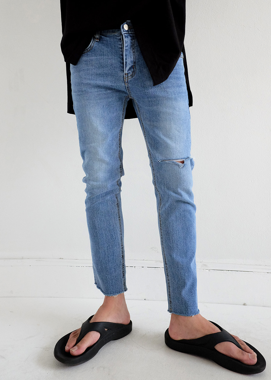 zero cutting slim denim(2 color)