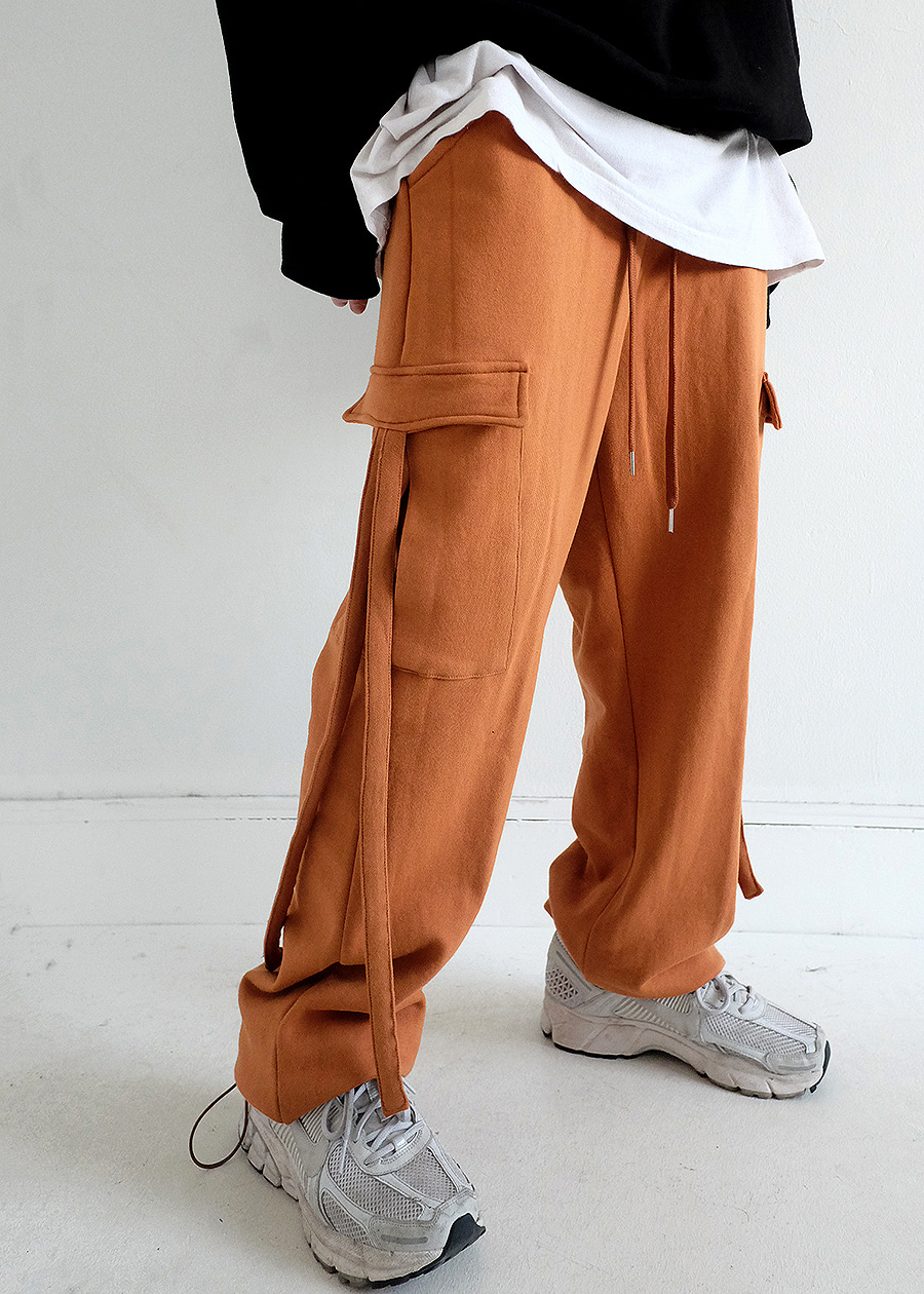 strap cotton cargo trouser(3 color!)