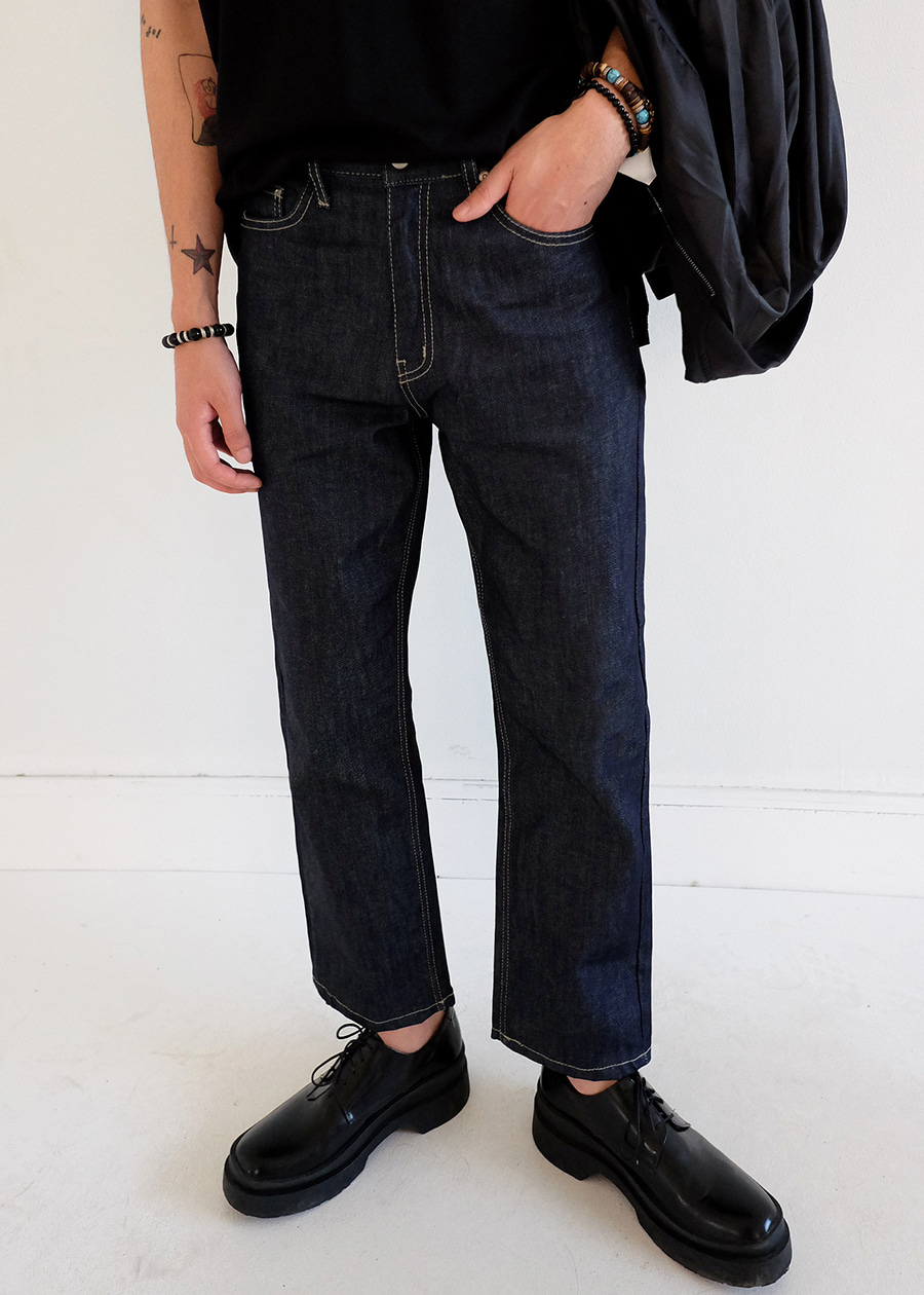 crop selvage jean(1 color)