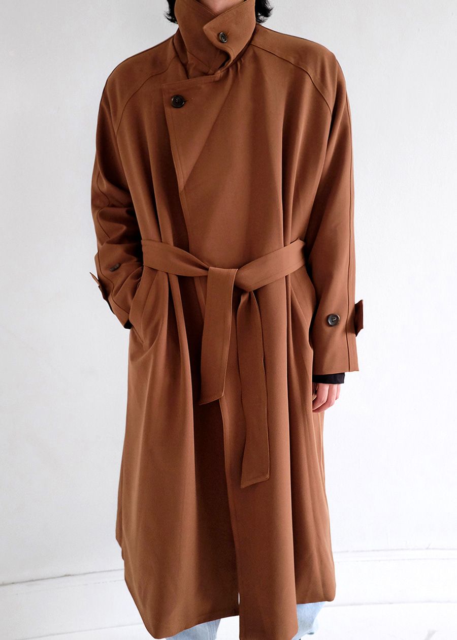 autumn over neck trench(3 color)