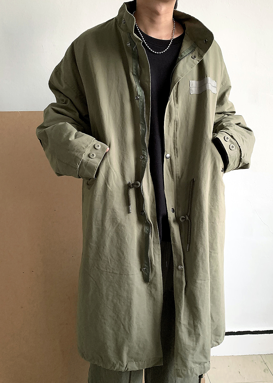 Over Fit Safari Long Parka(2 color)