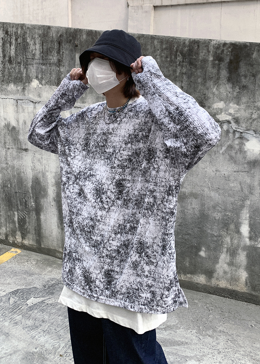 vintage washing long tee(3 color)