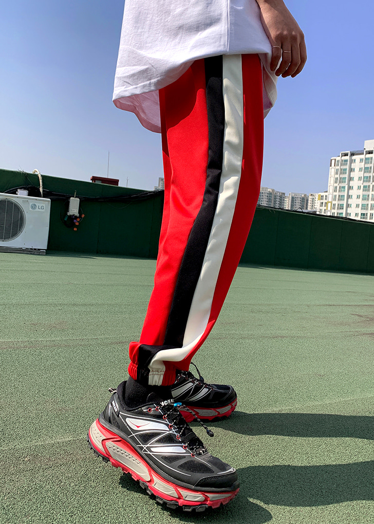 Color Line Jogger Pants(2 color)
