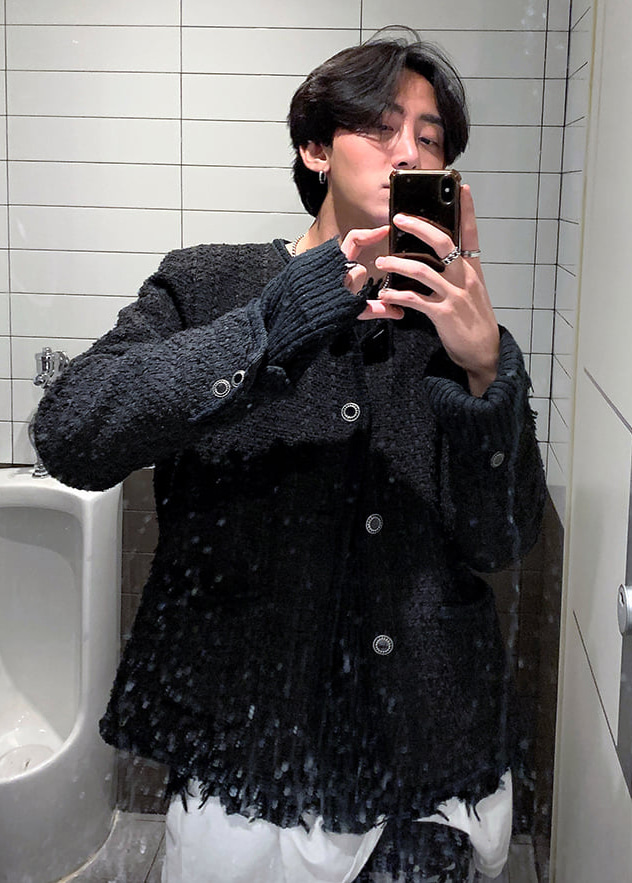 tweed jacket(black !)