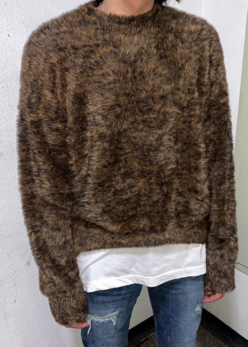 animal fur knit(3 color)