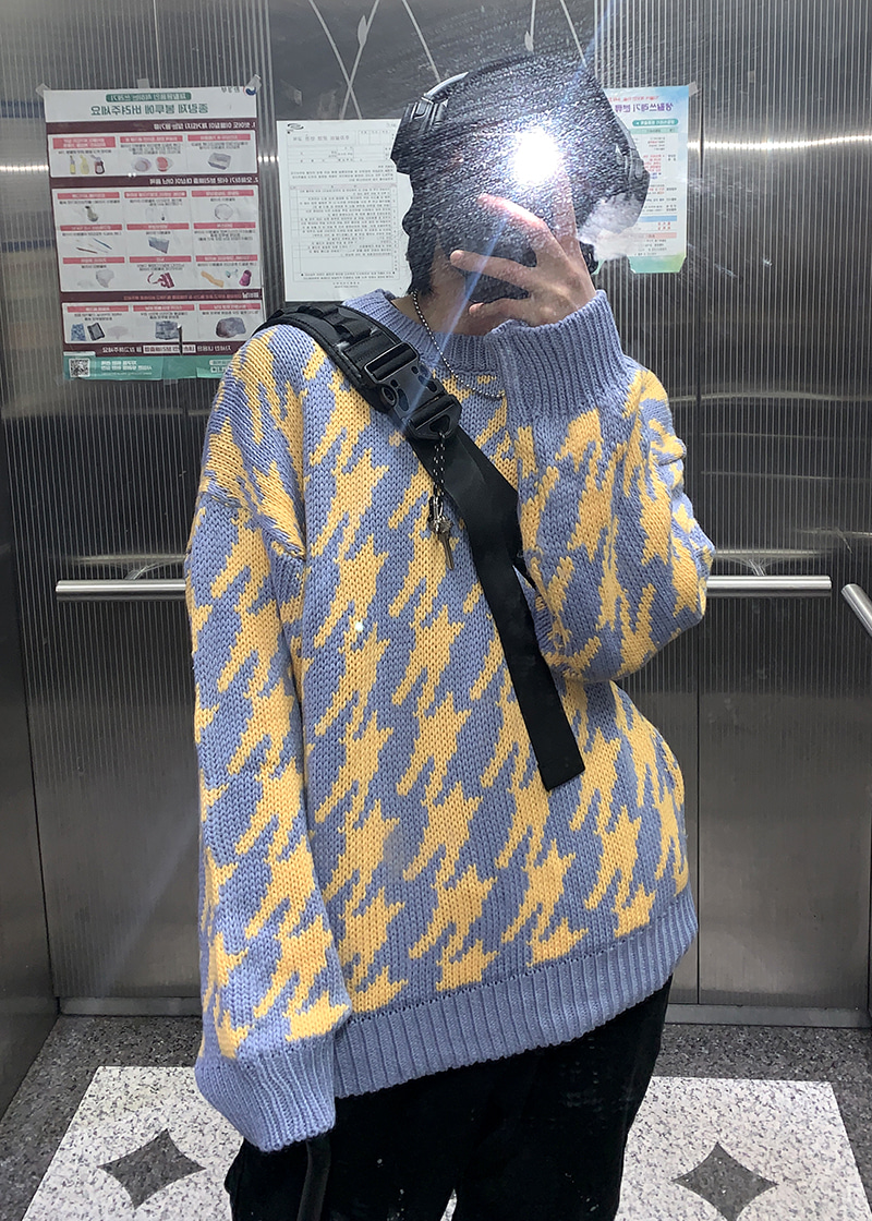 windmill check knit(2 color)