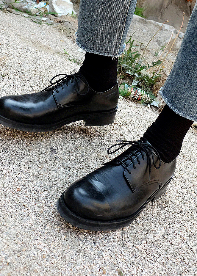 straight derby shoes(black !)