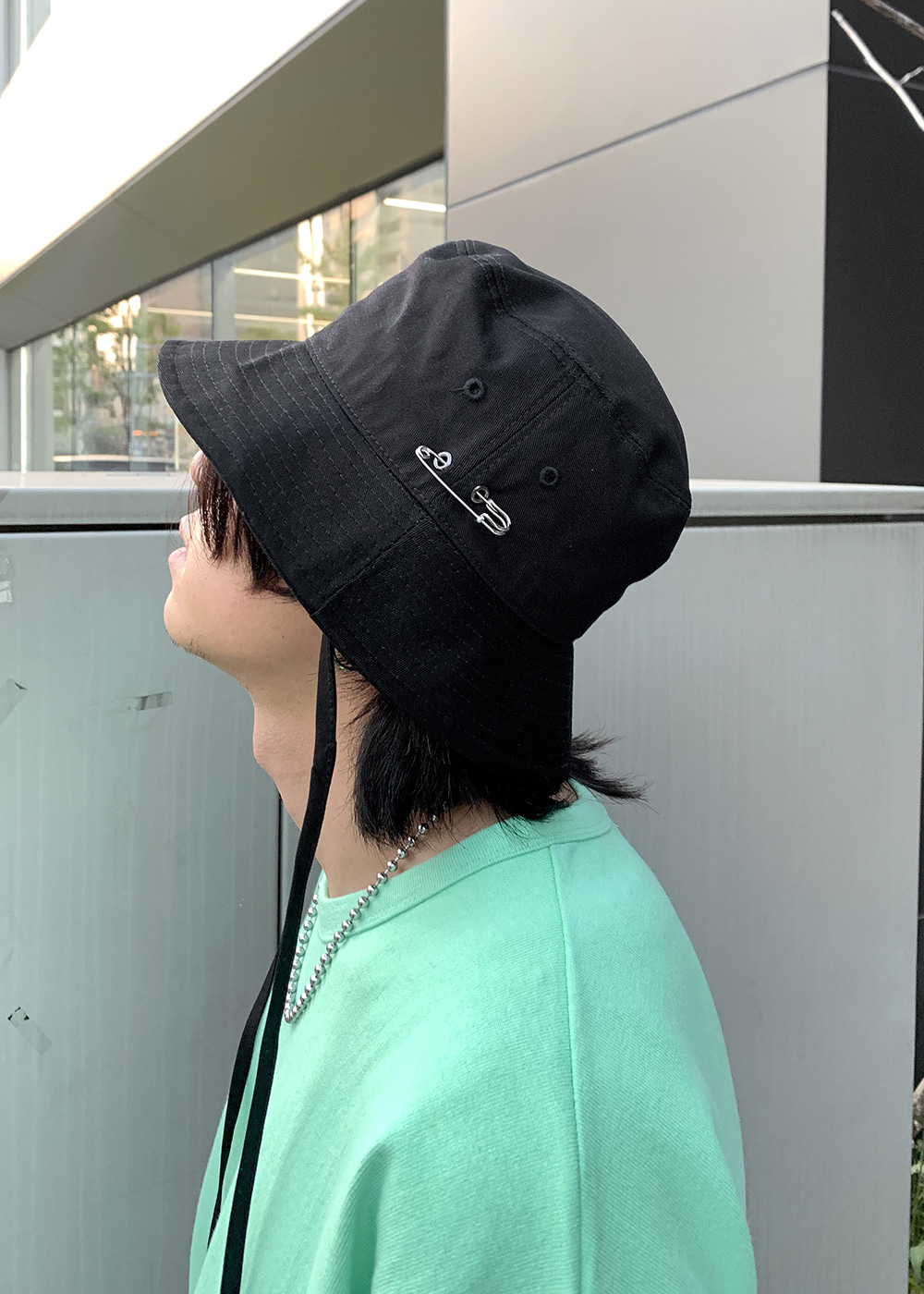 Clip Line Bucket Hat(black !)