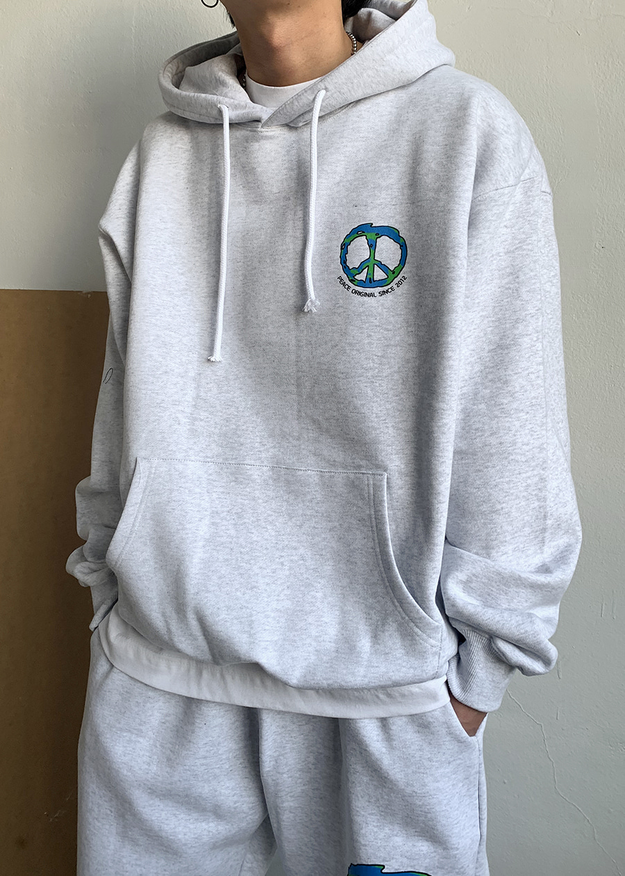 peace in earls hoodie(2 color)