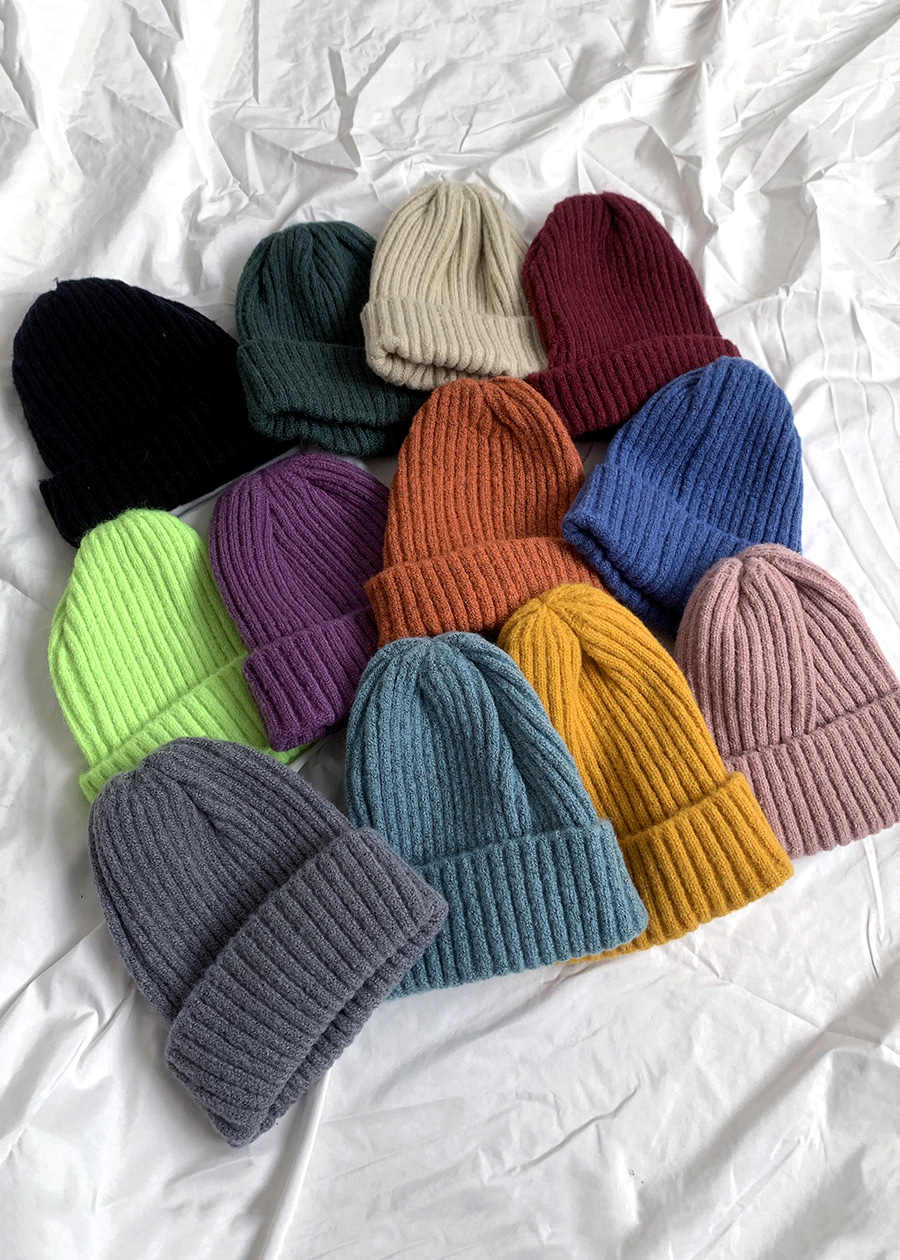 vivid warm beanie(12 color!)