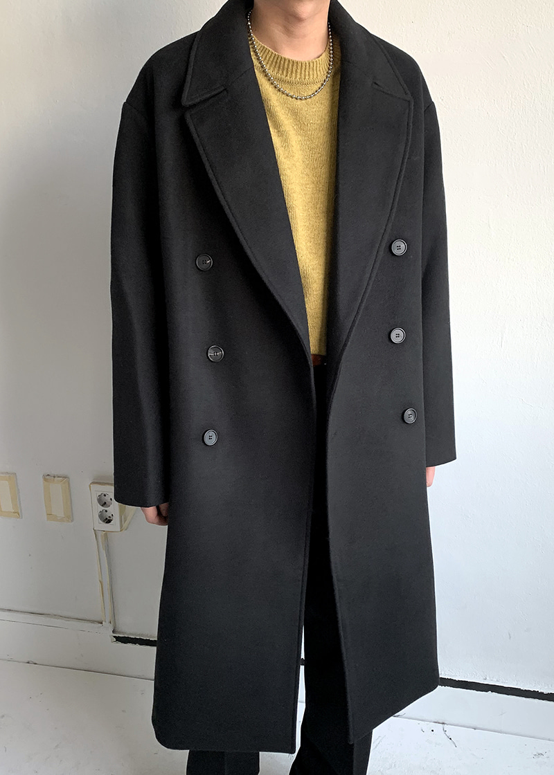 Double Over Long Coat(2 color!)
