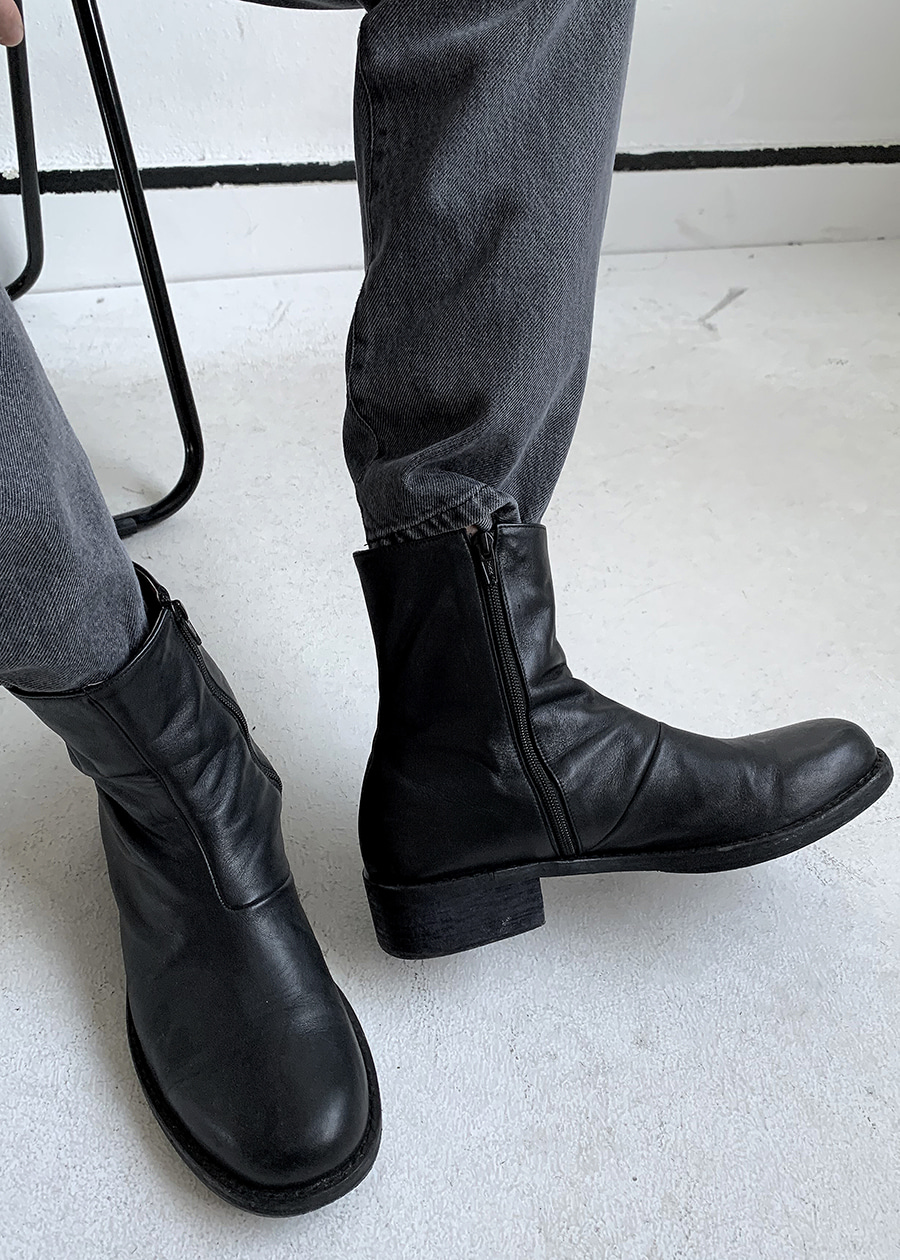 maison real leather boots(cow skin !)