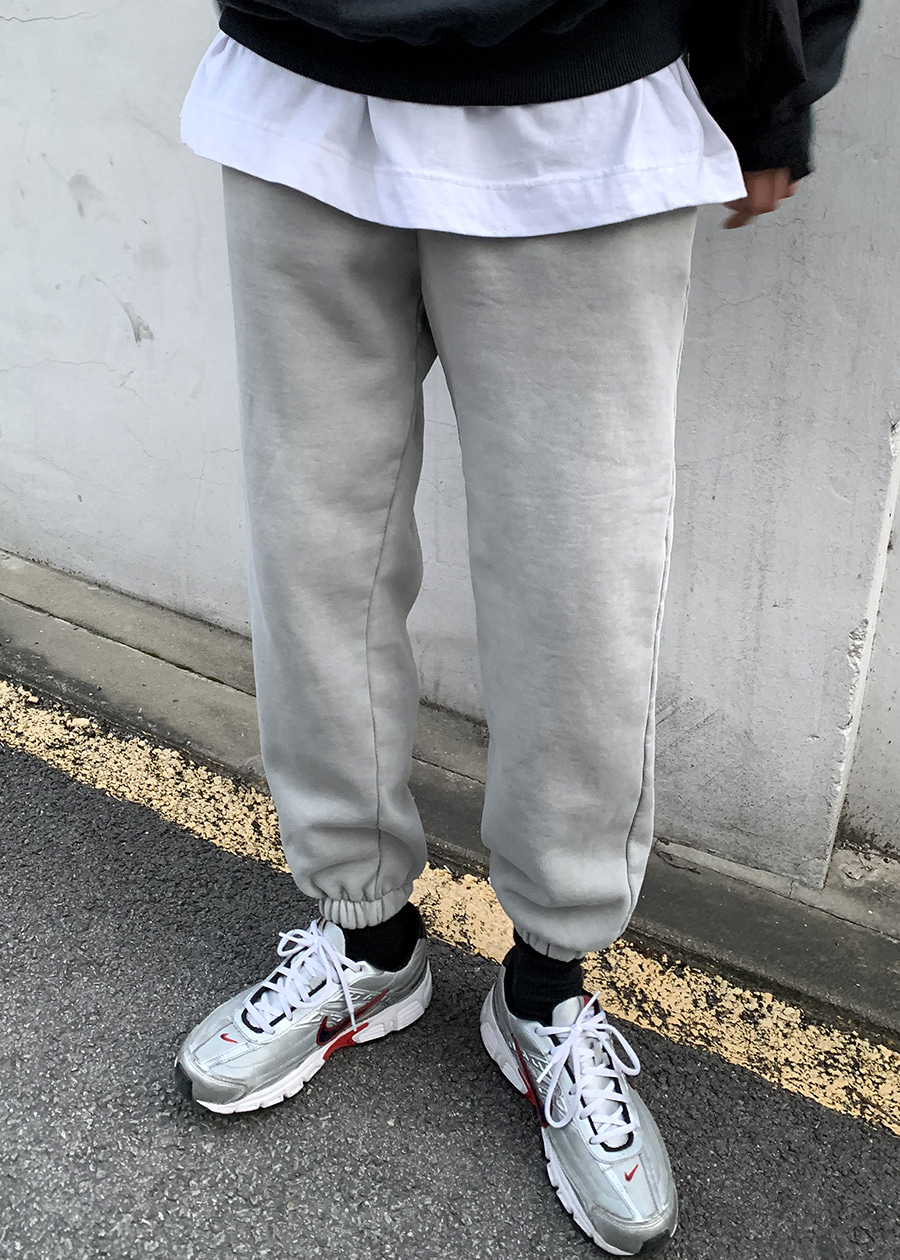warm daily jogger pants(3 color)