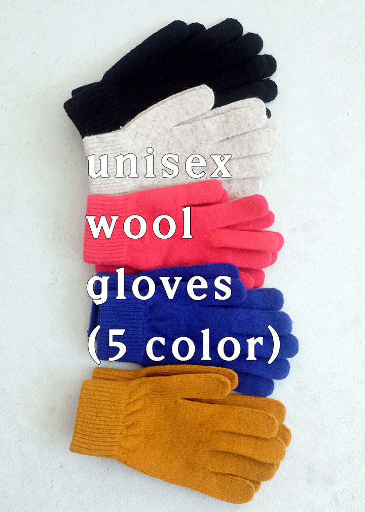 unisex wool gloves(5 color)