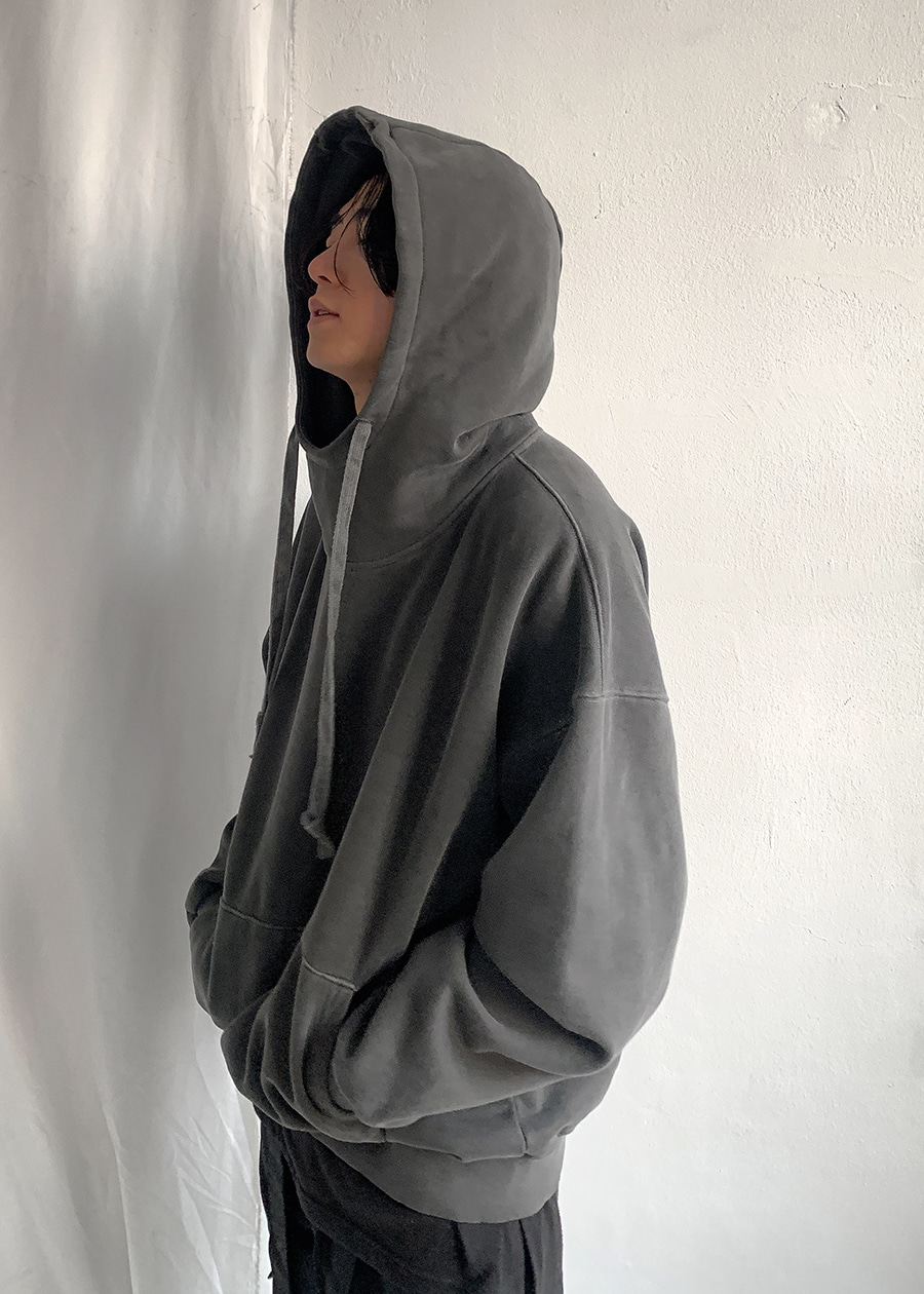 high-neck pigment hood(4 color)