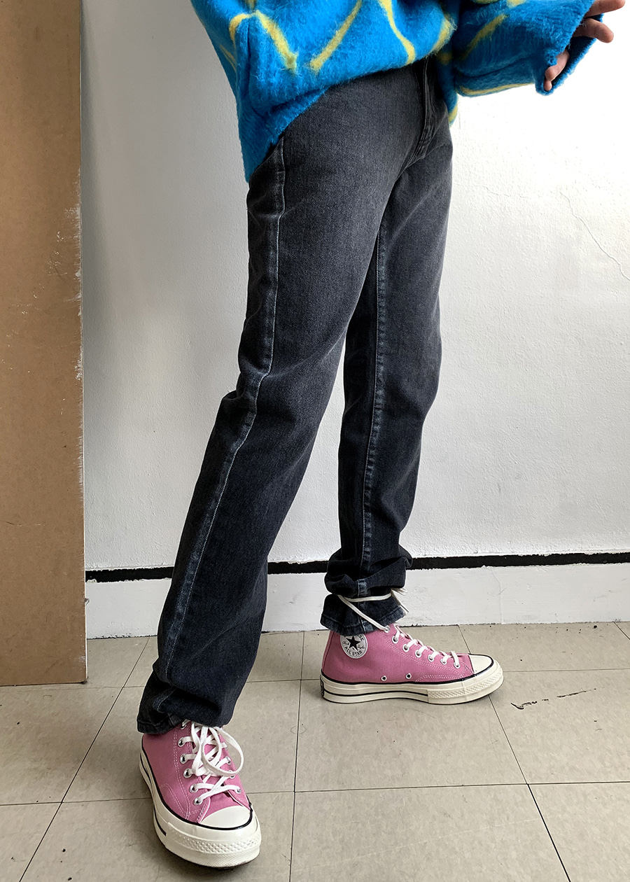 play straight denim pants(2 color)