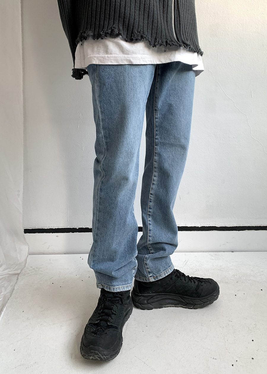 play straight denim pants(2 color!)