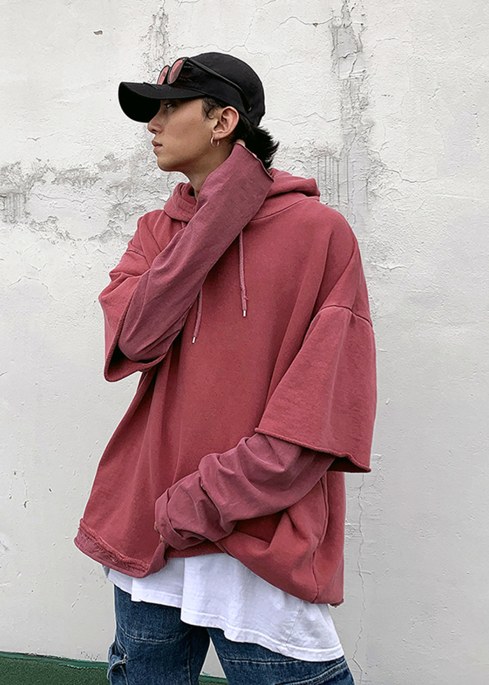 pigment layered hood t(4 color)