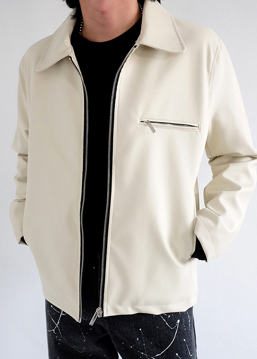 Leather Coach Jacket(2 color)