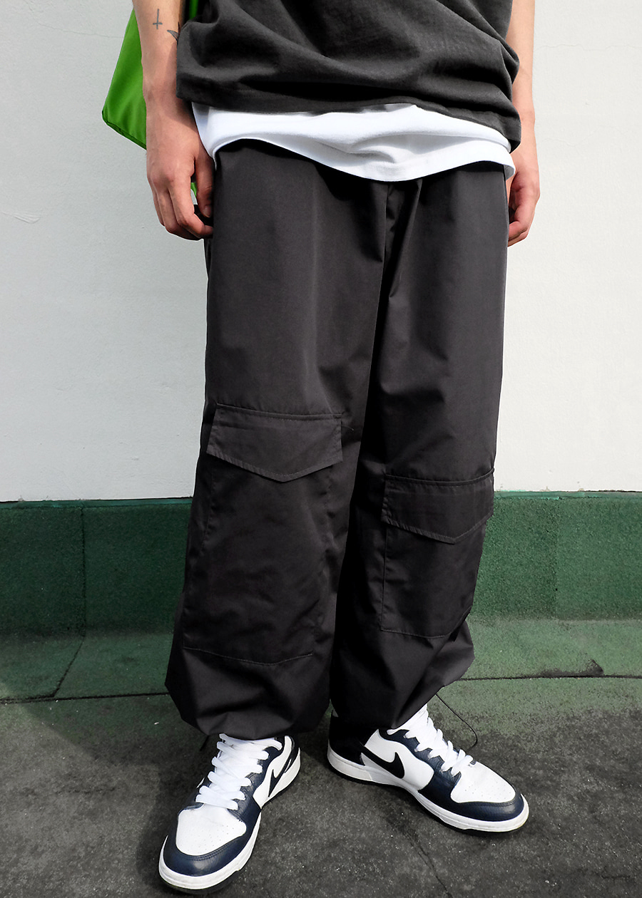 nylon pocket string pants(3 color)