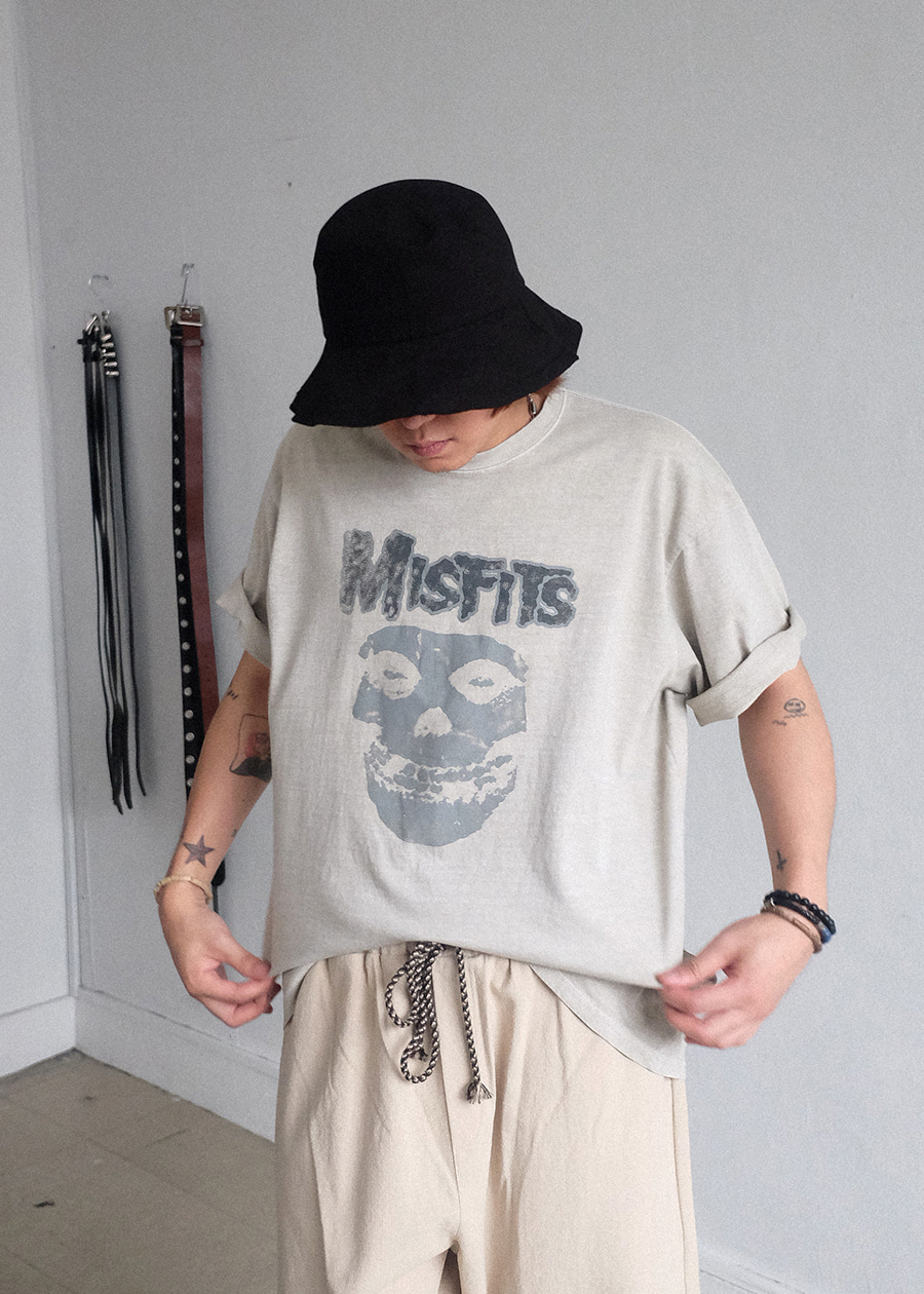Misfits Pigment Dying tee(2 color)