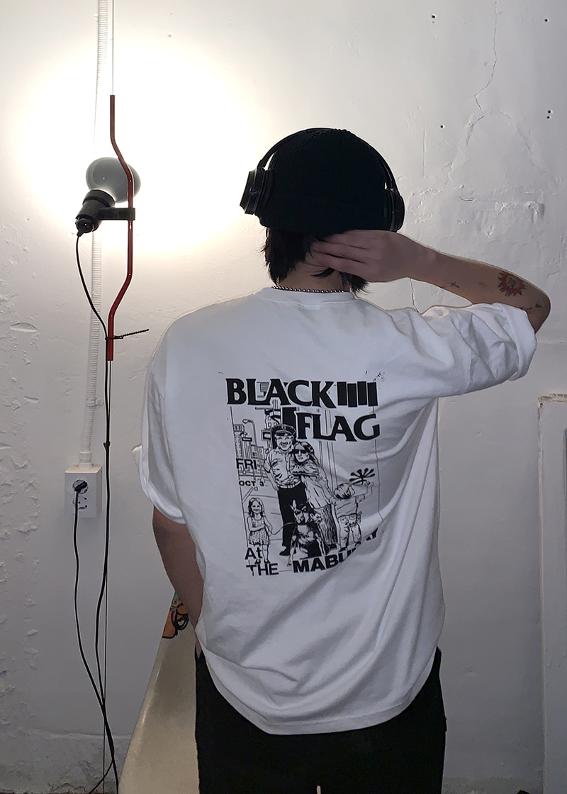 black flag dyeing tee(2 color)
