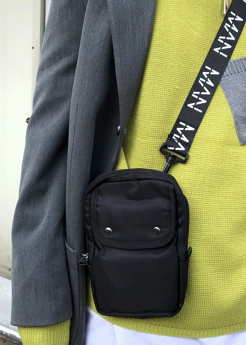 MAN mini cross bag(black !)