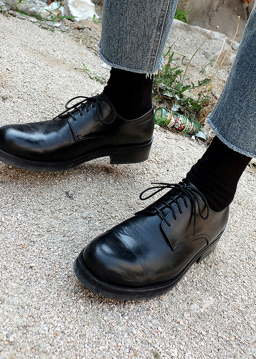 STRAIGHT DERBY SHOES(blacx !)