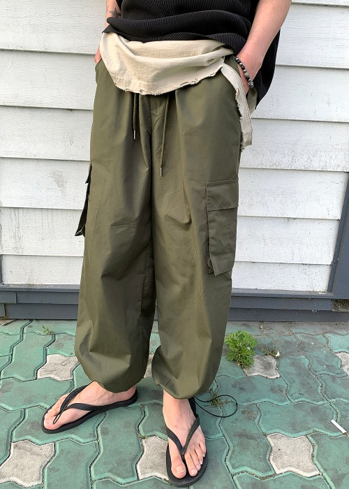 balloon string wide pants(2 colors!)