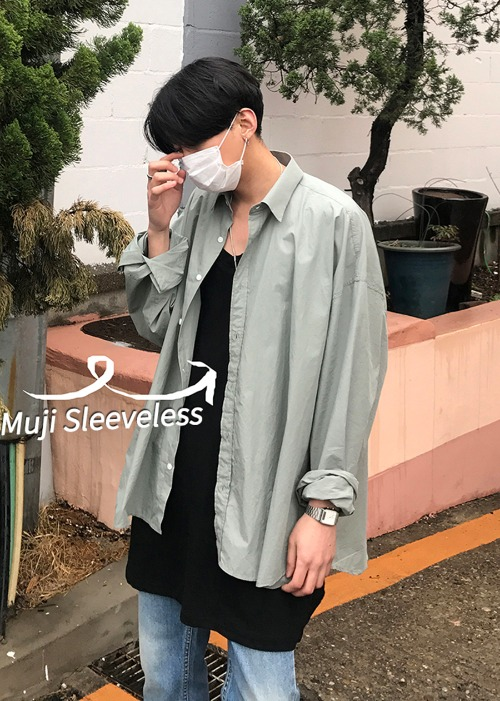 muji box long sleeveless(3 color)