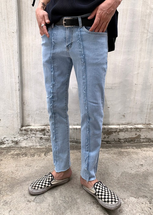 Thrash Cutting Slim Jean(2 color)