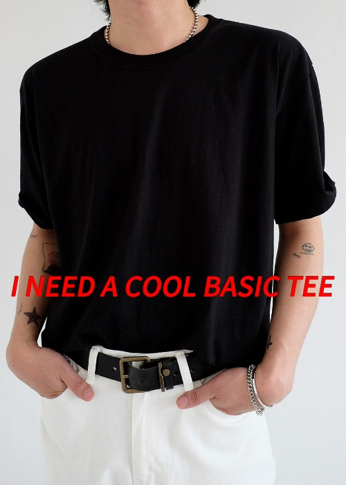 basic of basic 1/2 tee(7 color)