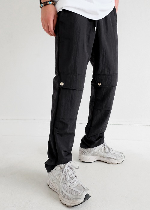 front pocket nylon pants(black !)