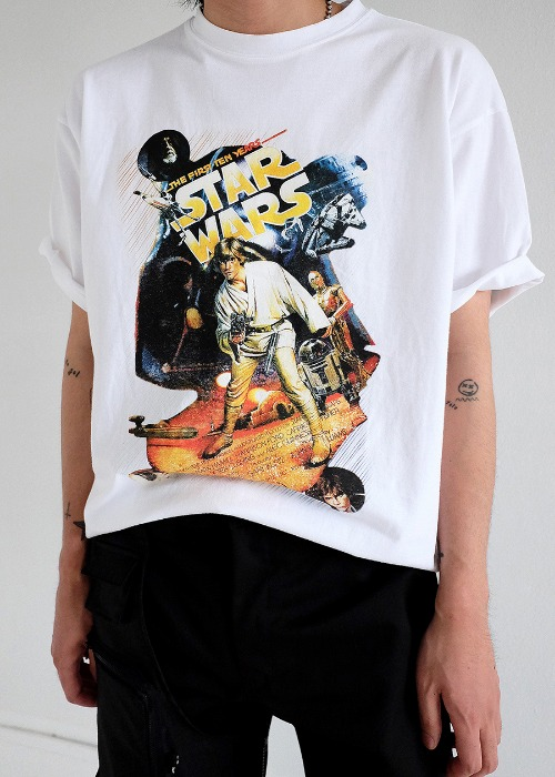 Star Wars 1/2 tee(white, black!)