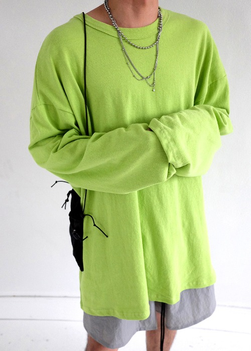 PL oversize box long sleeve(4 color)