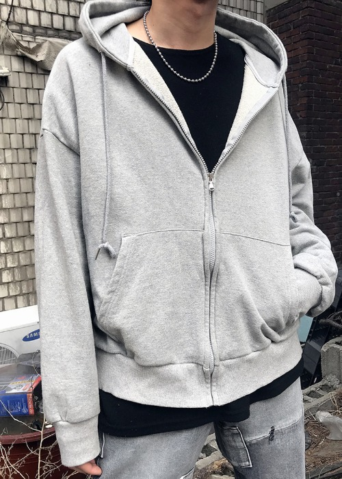basic hood zip-up(4 color)
