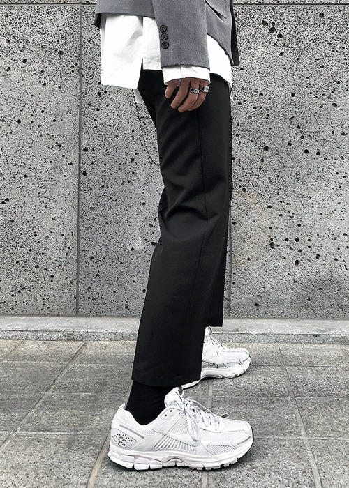 minimal crop slacks(2 color)