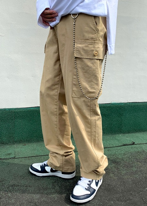 natural cargo pants(3 color)