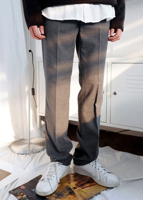 wool semi wide slacks(3 color)