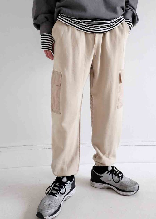 two tone jogger pants(2 color)