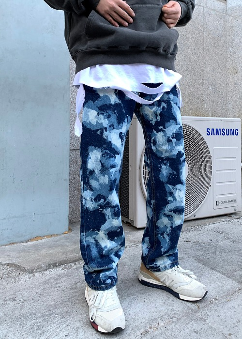 denim camouflage pants