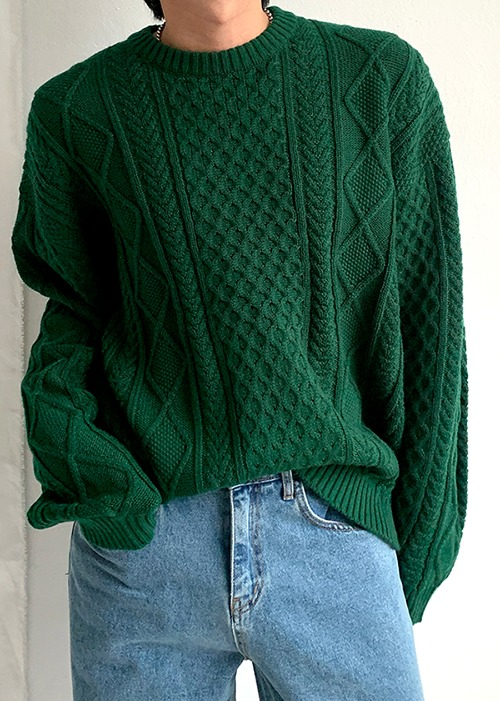 fisherman knit(4 color)