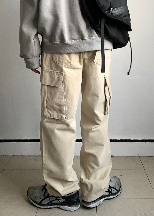 pitch fabric cargo pants(3 color)