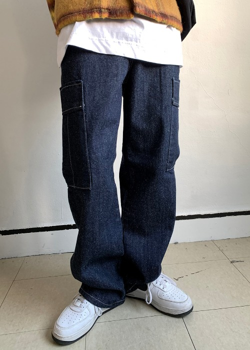 Washed Cargo Denim