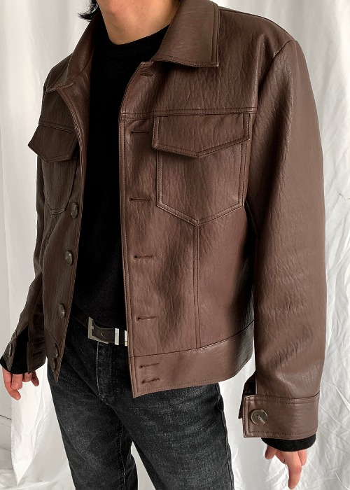 creep leather jacket(4 color)