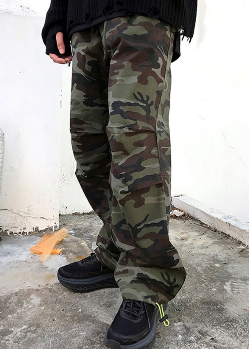 military under wide pants(1 color)