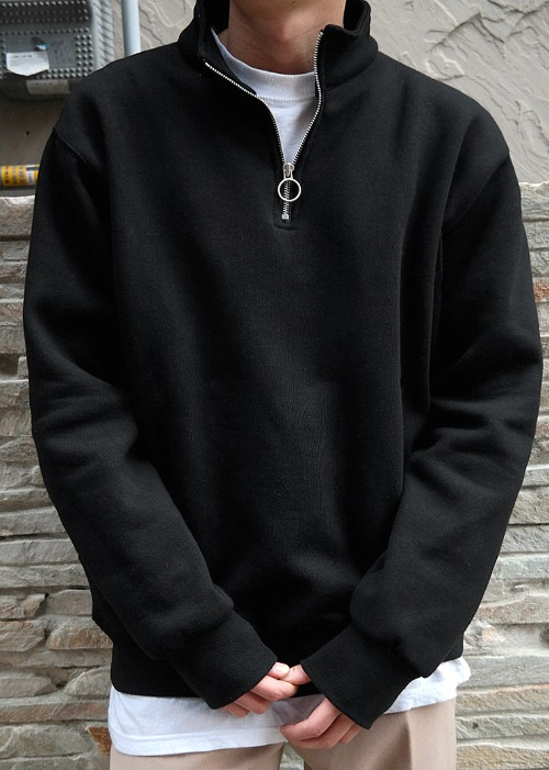 Ring Half-Neck Sweatshirts(3 color)